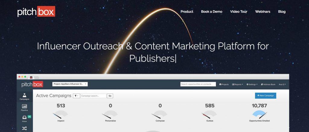 pitchbox homepage