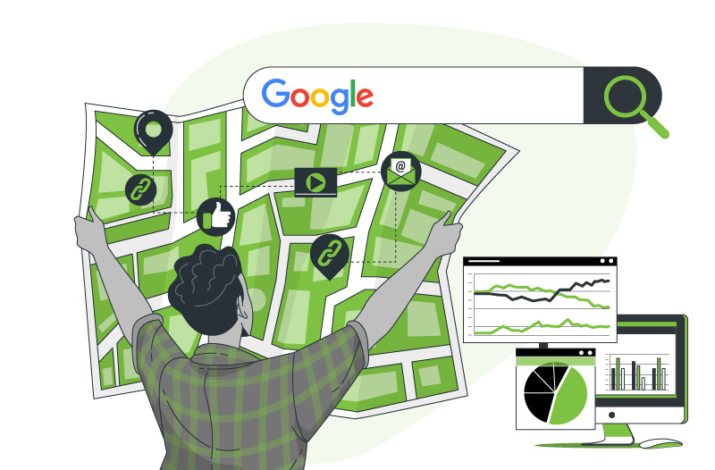 Local link building pinned map google search