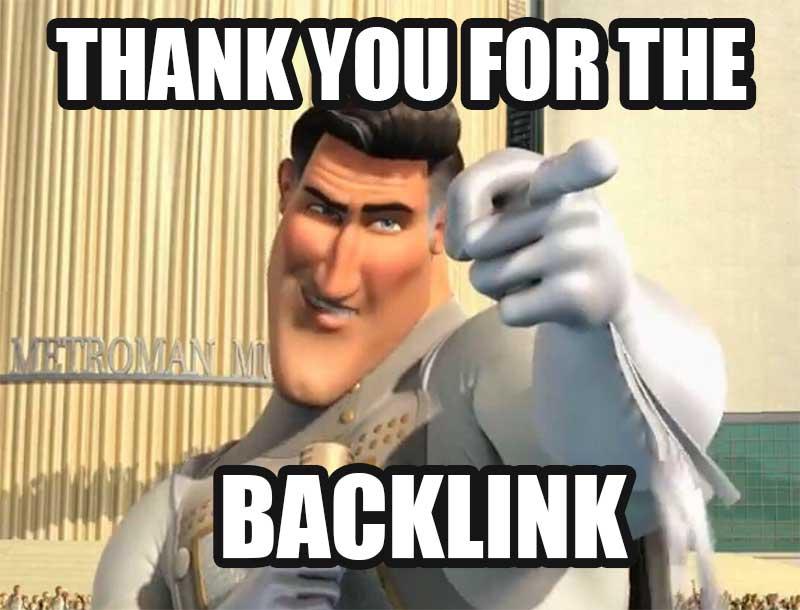 thank you backlink meme